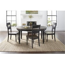 Madison County Round To Oval Table With 6 Chairs - Vintage Black