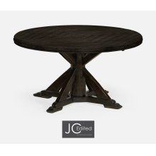 """53"""" Dark Ale Parquet Round-To-Oval Dining Table"""