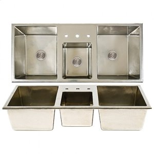 Lago-Cove-Lago Combination Sink - SK513 Silicon Bronze Brushed Product Image