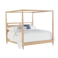 Wheat Era Canopy King Bed