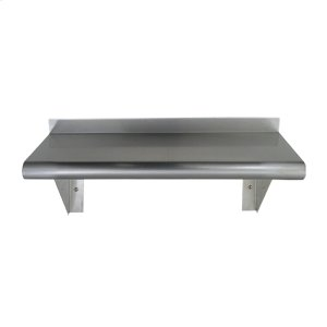 Culinary Equipment pre-assembled stainless steel shelf with a bull nose edge - available in three sizes. Product Image