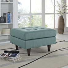 Empress Upholstered Fabric Ottoman in Laguna