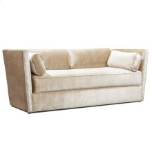MARCELLA SOFA  Gloss Camel Fabric on Wood Frame