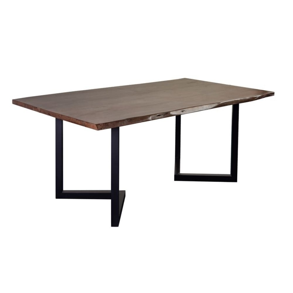 Manzanita Walnut Acacia Dining Table with Different Bases, VCA-DT72W