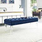 Valet Performance Velvet Bench in Navy Product Image