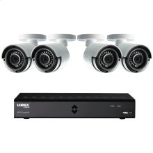 8-Channel MPX 1080p HD 1TB DVR with 4 Weatherproof IR Cameras