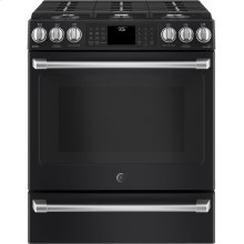 Slide-In Front Control, 5.6 cu ft, PreciseAir True Convection, Wifi Connected Oven - Black Slate