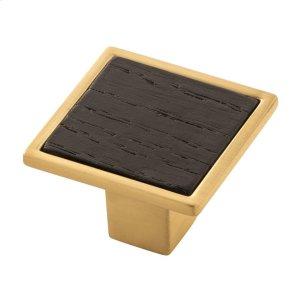 1-7/16 Fuse Knob - Brushed Golden Brass Product Image