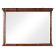 Walnut Overmantle Mirror with Heavy Mouldings