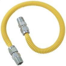 """Gas Dryer & Water Heater Flex-Line (1/2"""" OD (1/2"""" MIP x 1/2"""" MIP) x 48"""")"""