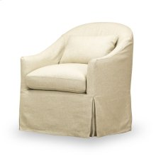 Becky Slipcover Swivel Chair - Tribecca Natural