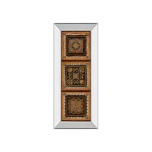 Folk Art Panel II By Tava Studios (mirrored Frame)