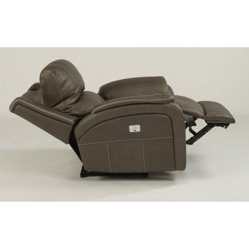 Marina Fabric Power Recliner with Power Headrest