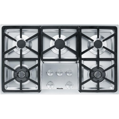 KM 3474 LP Gas cooktop with 2 dual wok burners for particularly versatile cooking convenience.