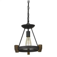 60W Cruz Metal/Wood Pendant (Edison Bulb Not Included)