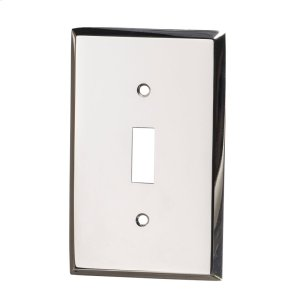 Single Toggle Square Bevel Switch Plate - Polished Nickel Product Image