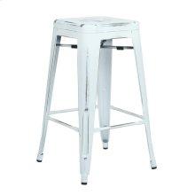 """Bristow 26"""" Antique Metal Barstools, Antique White, 2-pack"""