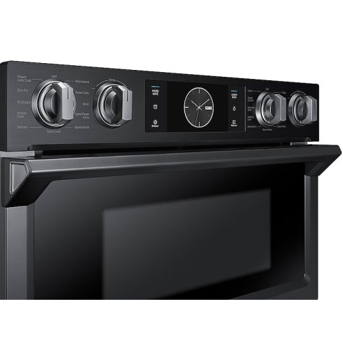 """30"""" Flex Duo Microwave Combination Wall Oven in Black Stainless Steel"""