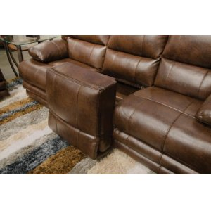 Lay Flat Reclining Console Loveseat w/Extended Ottoman