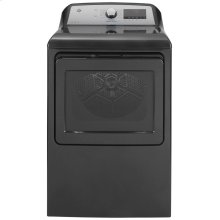 GE® 7.4 cu. ft. Capacity Smart aluminized alloy drum Electric Dryer with HE Sensor Dry