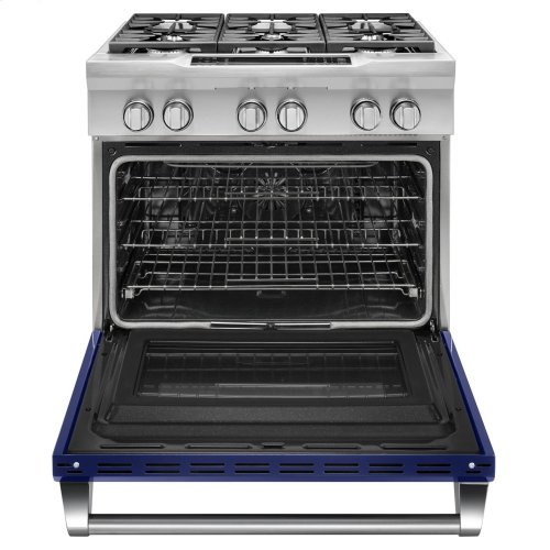 36'' 6-Burner Dual Fuel Freestanding Range, Commercial-Style - Cobalt Blue DISPLAY CLEARANCE