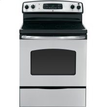 """GE® 30"""" Free-Standing Electric Range (This is a Stock Photo, actual unit (s) appearance may contain cosmetic blemishes. Please call store if you would like actual pictures). This unit carries our 6 month warranty, MANUFACTURER WARRANTY and REBATE NOT VALID with this item. ISI 33468"""