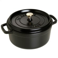 Staub Cast Iron 4-qt round Cocotte, Black