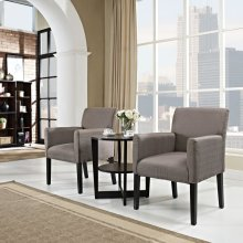 Chloe Armchair Set of 2 in Gray