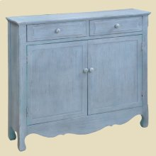"""Cottage"" Driftwood Blue Cupboard"