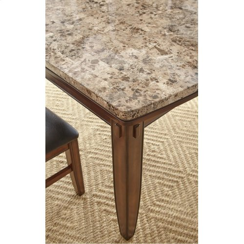 """Eileen Brown Marble Top Table 42"""" x 72"""" x 31"""""""