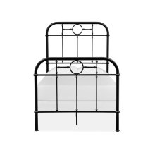 Complete Twin Metal Bed - Black