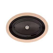 Pop Oval Under Counter Bathroom Sink - Black