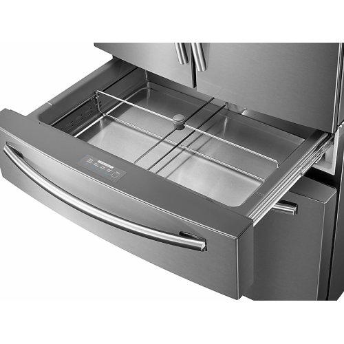 28 cu. ft. Food Showcase 4-Door French Door Refrigerator in Stainless Steel