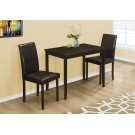 DINING SET - 3PCS SET / CAPPUCCINO / BROWN PARSON CHAIRS Product Image