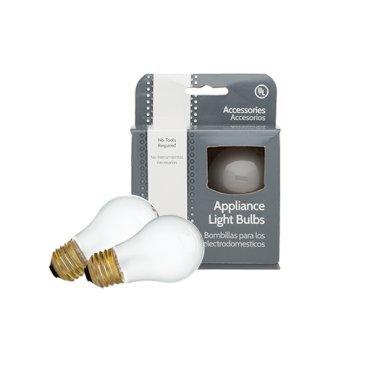 Smart Choice Appliance Light Bulb, 2 Pack