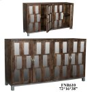 Bengal Manor Acacia Wood and Mirror 4 Door Sideboard Product Image