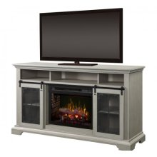 Olivia Media Console Electric Fireplace
