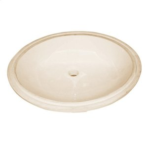 Oval - Biscuit Ceramic Undermount Sink Product Image