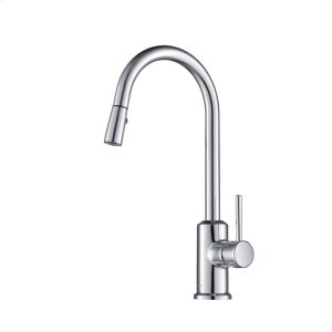 Stufurhome Brighton Kitchen Faucet w/ Spray Head Gooseneck Chrome Single Lever Mixer Product Image