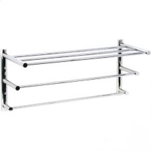 Techno - Three Tier Towel Shelf - Polished Chrome