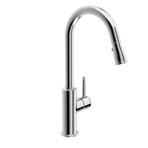Classic Single-lever kitchen faucet with swivel spout; pull-down spray, chrome Product Image