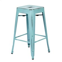 "Bristow 26"" Antique Metal Barstools, Antique Sky Blue, 2-pack"