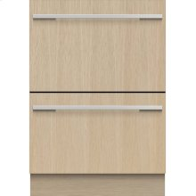 Double DishDrawer Dishwasher, 14 Place Settings, Panel Ready