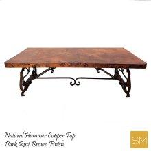 Hammer Copper Wrought Iron Desk