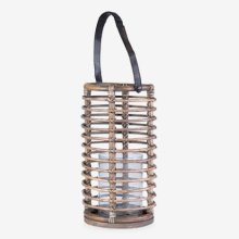 Round Lantern - vintage Grey