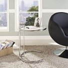 Eileen Gray Chrome Stainless Steel End Table in Silver Product Image