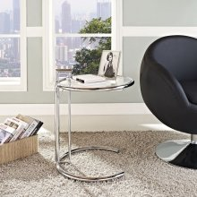Eileen Gray Chrome Stainless Steel End Table in Silver