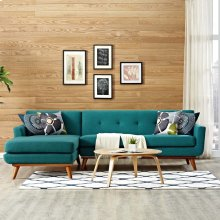 Engage Left-Facing Sectional Sofa in Teal