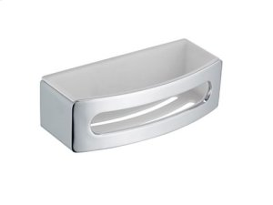 Sponge wire basket - chrome-plated/white Product Image