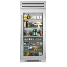 36 Inch Stainless Glass Refrigerator Column - Left Hinge Stainless Glass
